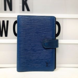 Louis Vuitton Blue Epi leather agenda cover PM
